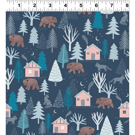 Dreaming Of Snow - Into The Woods - Navy Blue