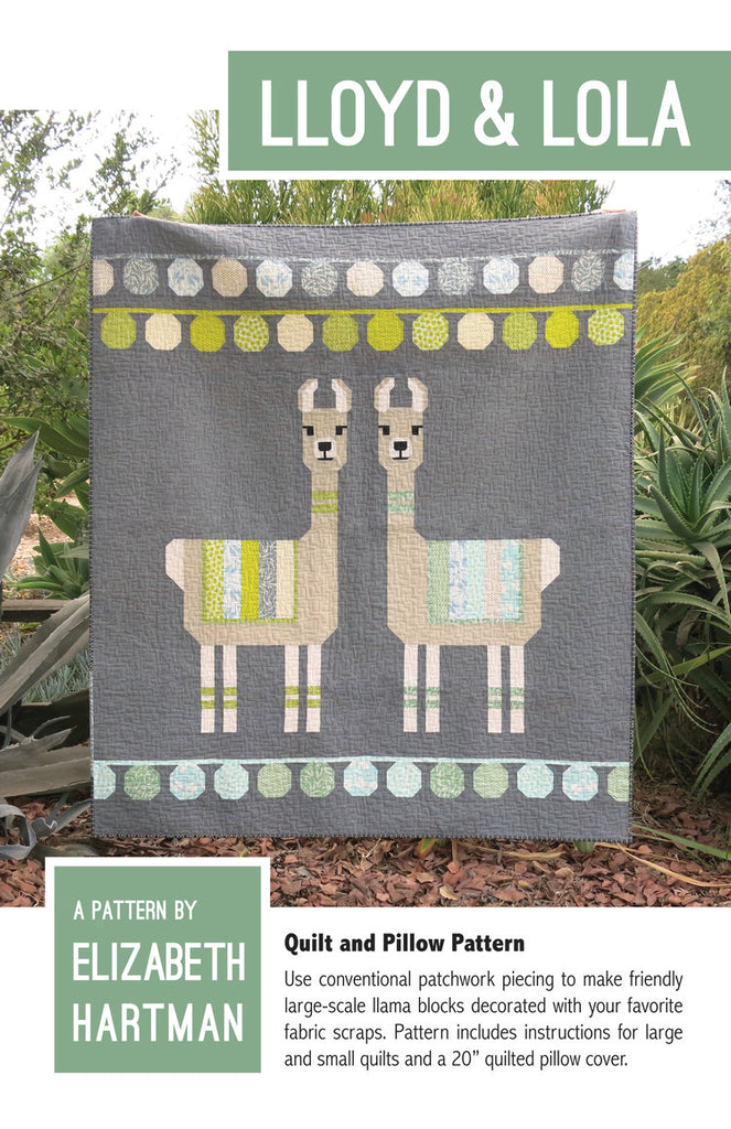 *NEW* Elizabeth Hartman - Lloyd & Lola - Quilt & Pillow Pattern