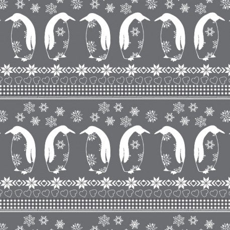 *NEW* Nordic Christmas - Penguin Parade - Grey