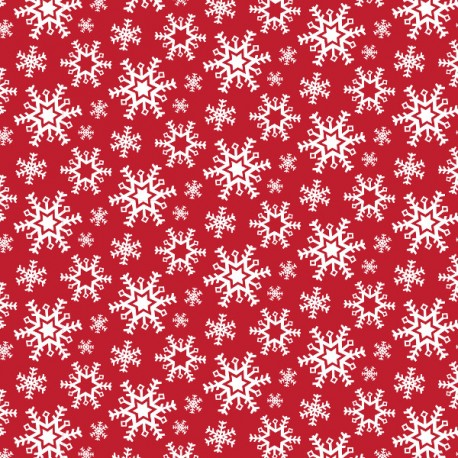 Nordic Christmas - Snowflake - Red