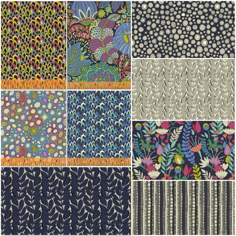 Fantasy - Blue - Fat Quarter Pack (9)