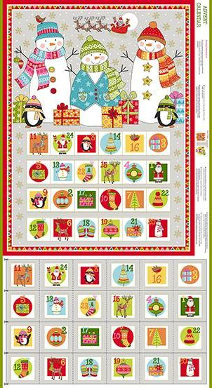 Makower - Festive - Advent Calendar Panel - TP-2106-1