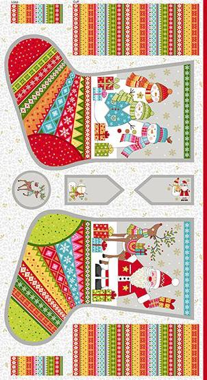 Makower - Festive - Stocking Panel - TP-2107-1