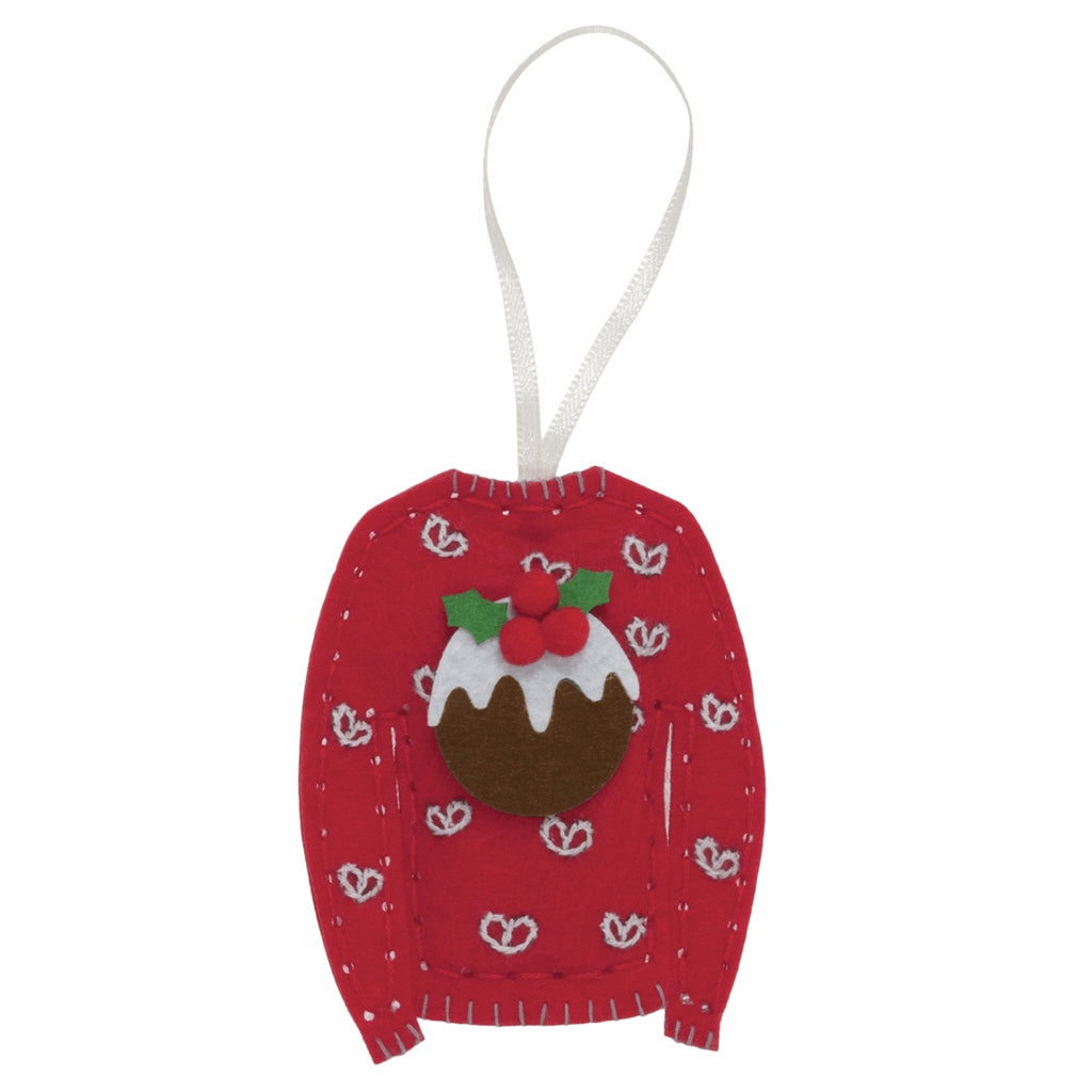*NEW* Felt Christmas Decoration Kit - Pudding Christmas Jumper