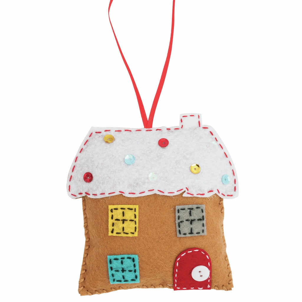 *NEW* Felt Christmas Decoration Kit - Gingerbread House