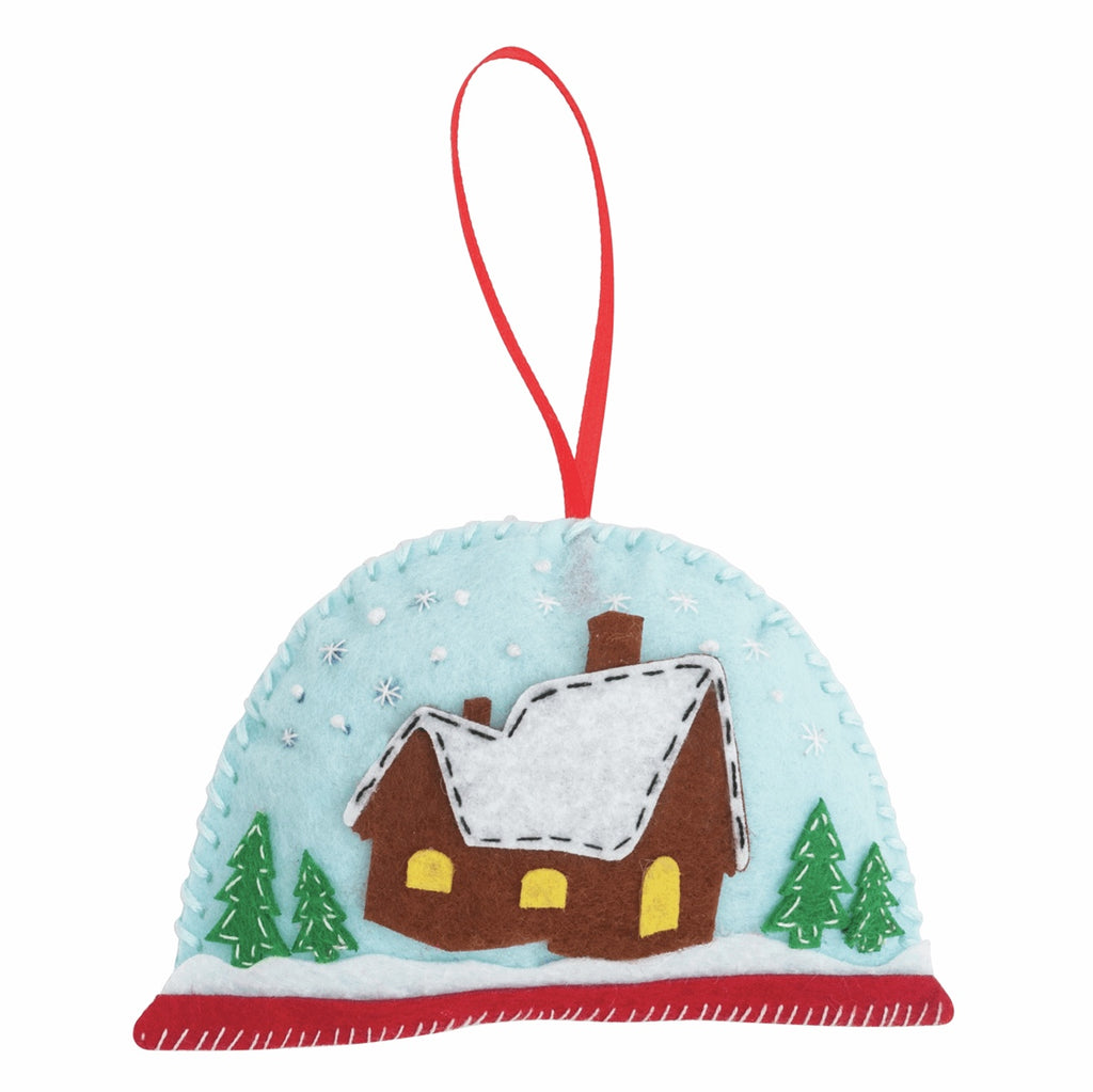 *NEW* Felt Christmas Decoration Kit - Snow Globe
