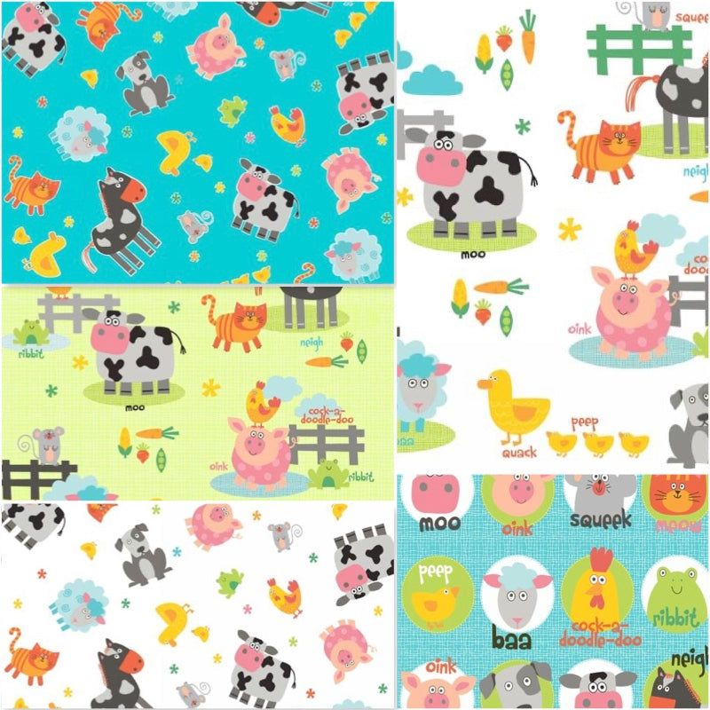 Funny Farm - Fat Quarter Pack (5)