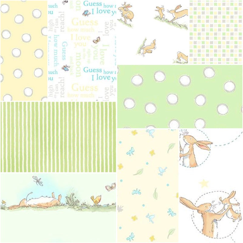 Guess How Much I Love You - Fat Quarter Pack - Neutral (9)