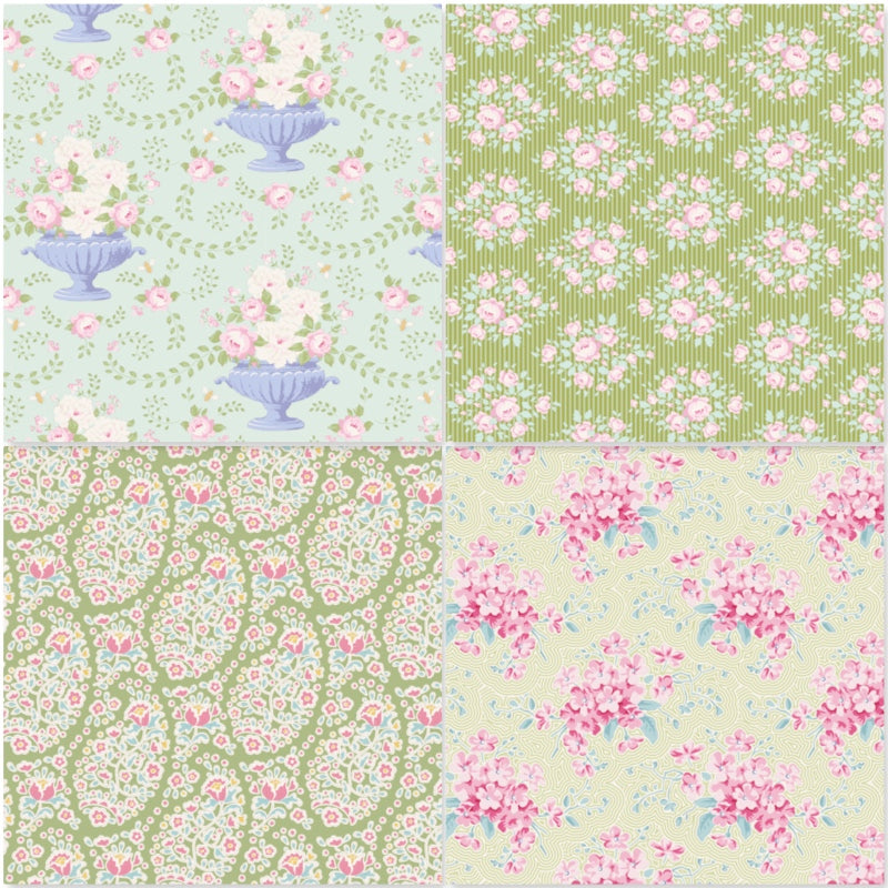*NEW* Tilda Happy Campers - Fat Quarter Pack - Green (4)