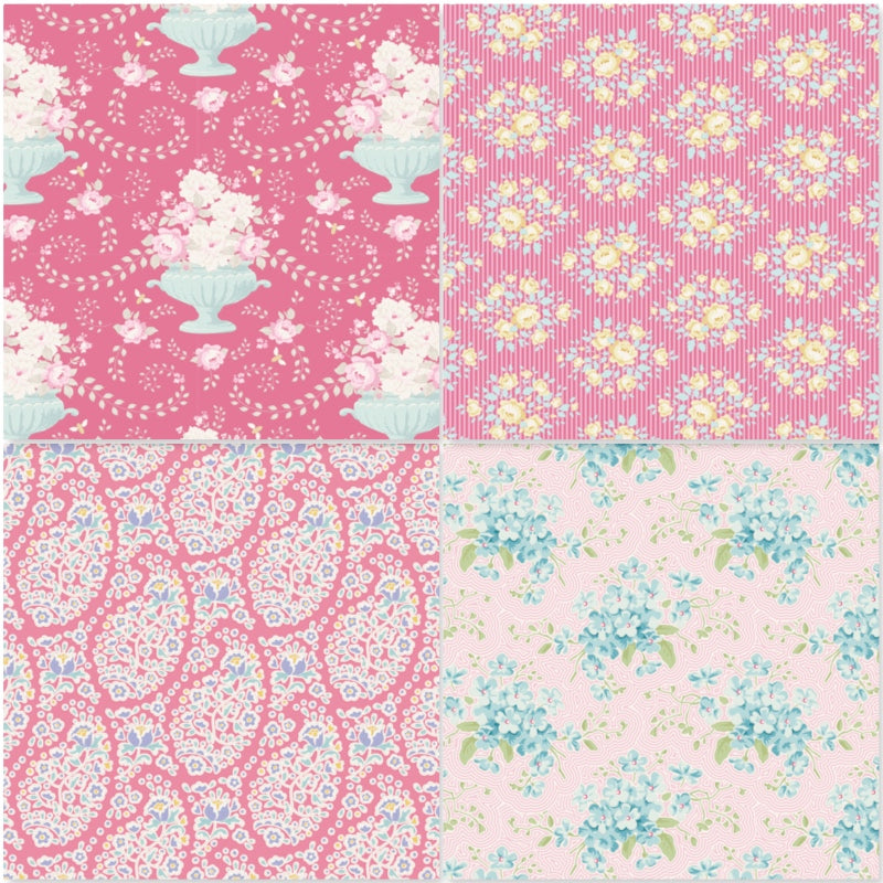 *NEW* Tilda Happy Campers - Fat Quarter Pack - Rose (4)