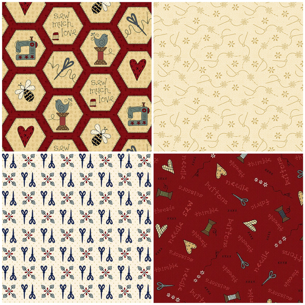 Home Sewn - Fat Quarter Pack (4)