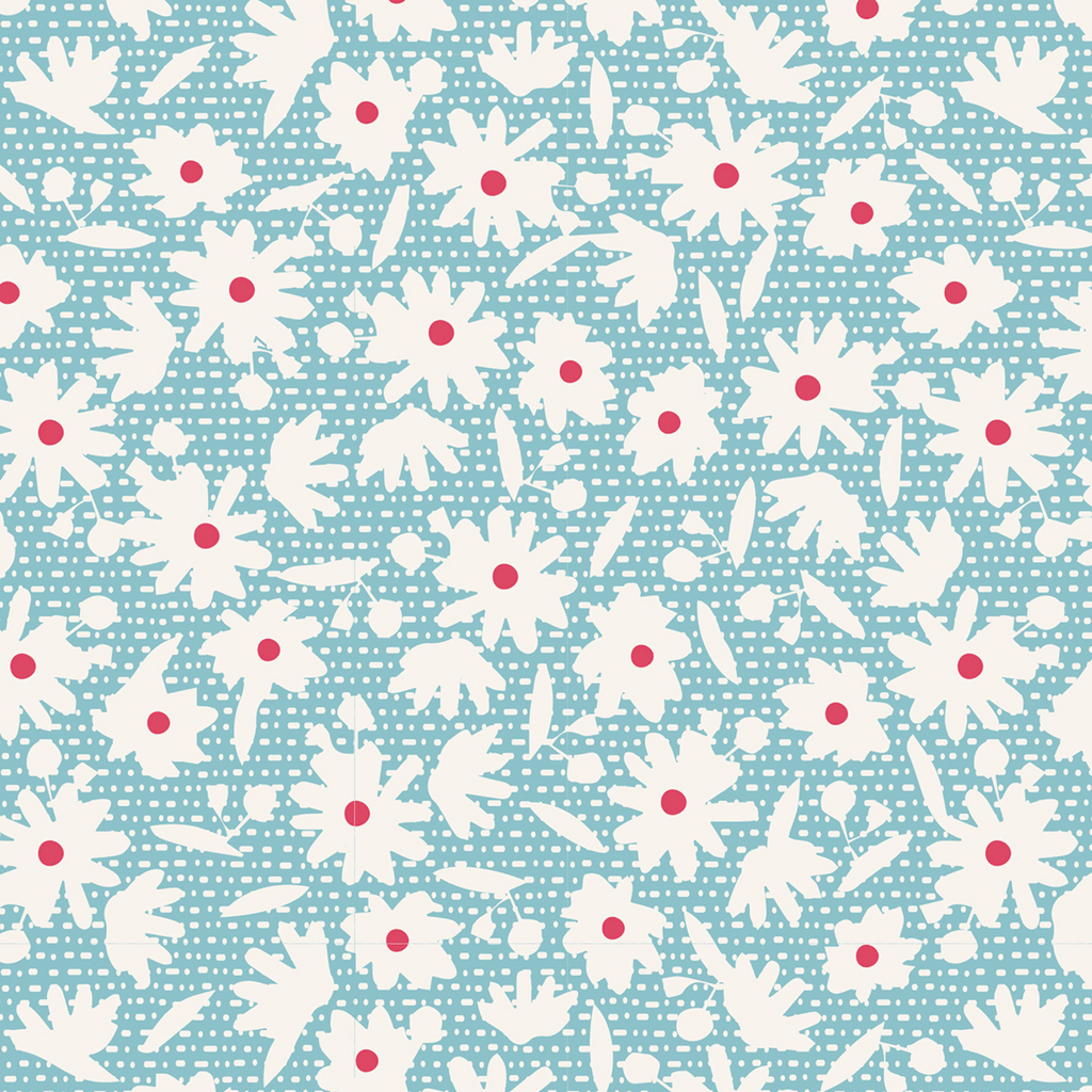 Tilda Bon Voyage - Paperflower - Teal