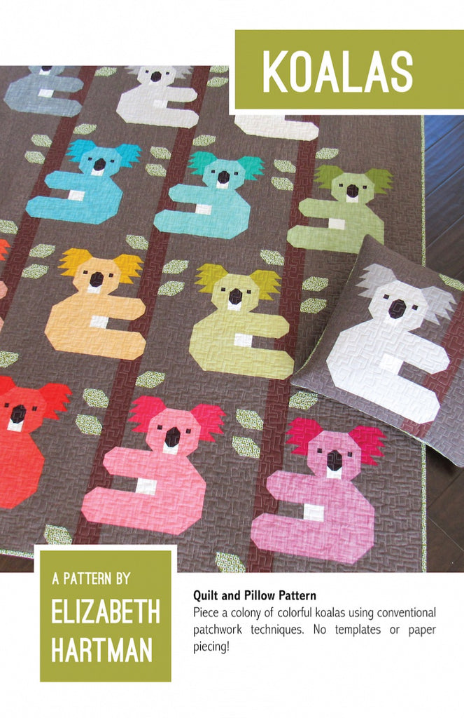 *NEW* Elizabeth Hartman - Koalas - Quilt & Pillow Pattern