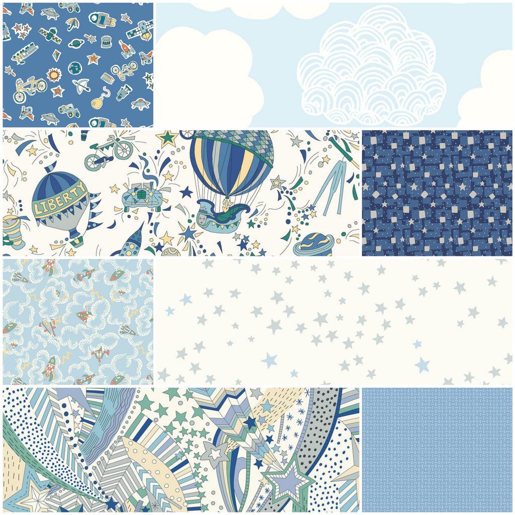 *NEW* - Adventures in the Sky - Fat Quarter Pack (8)