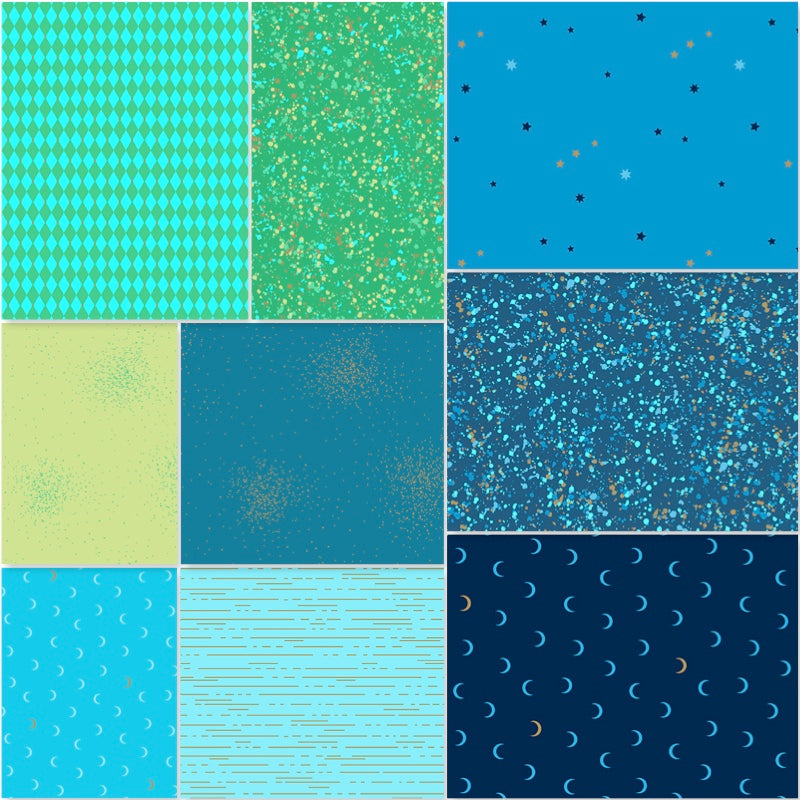 *NEW* Libs Elliot - Fat Quarter Pack - Cool (9)