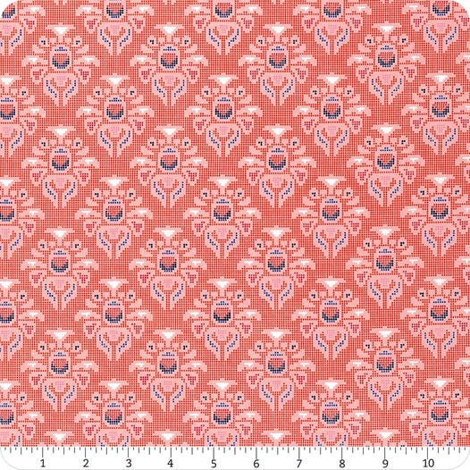 *NEW* Riley Blake Midnight Rose - Fat Quarter Pack - Coral (7)
