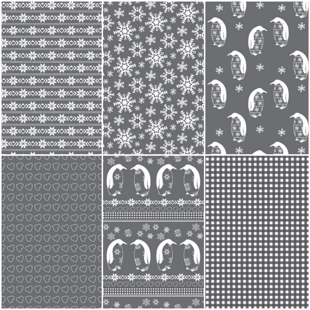 Nordic - Grey - Fat Quarter Pack (6)