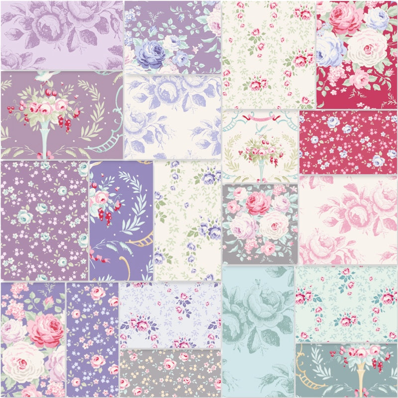 *NEW* Tilda Old Rose - Fat Quarter Pack - Whole Collection (20)