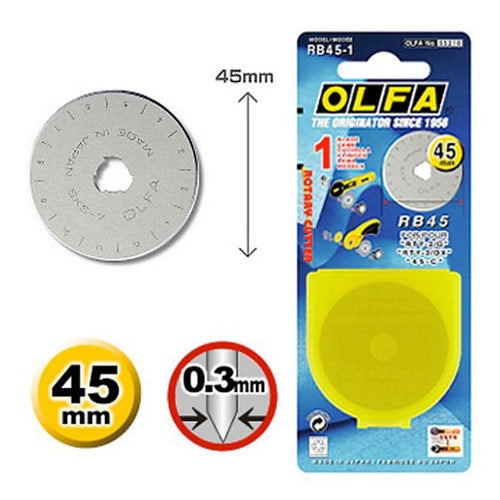 OLFA Rotary Blade: 45mm: Pack of 1