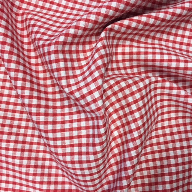 1/8'' Gingham - Red