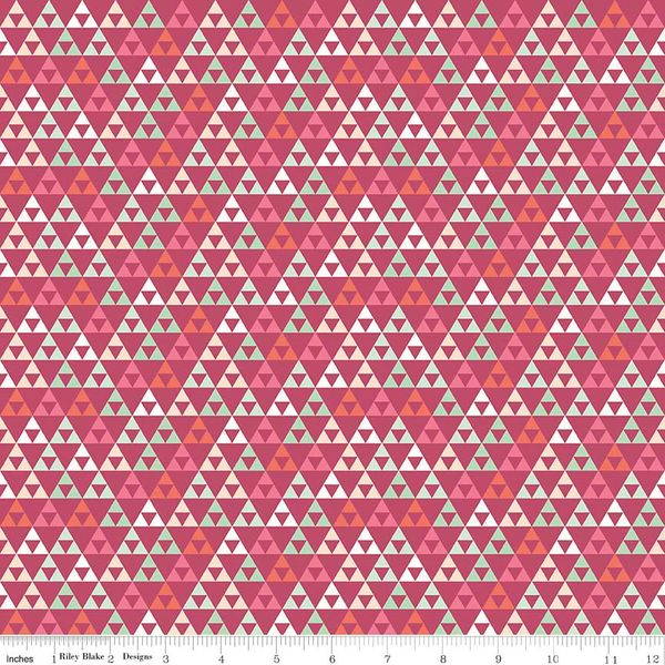 On Trend - Triangle - Rasberry