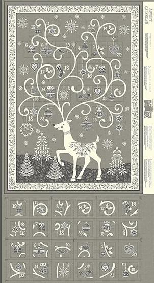 Makower - Scandi - Advent Calendar Panel - Silver - TP-2110-S