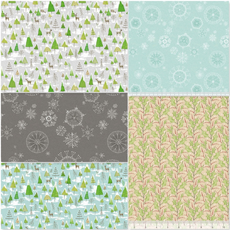 Snow Fun - Fat Quarter Pack (5)