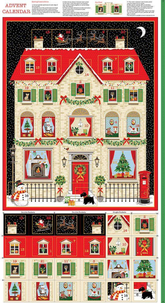 Makower - Silent Night - Advent Calendar Panel - Night - 2133/1 New House