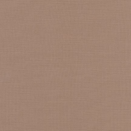 * Robert Kaufman - KONA Cotton Solids - 1855 - Suede 100% cotton soft fabric that is 44'' wide.
