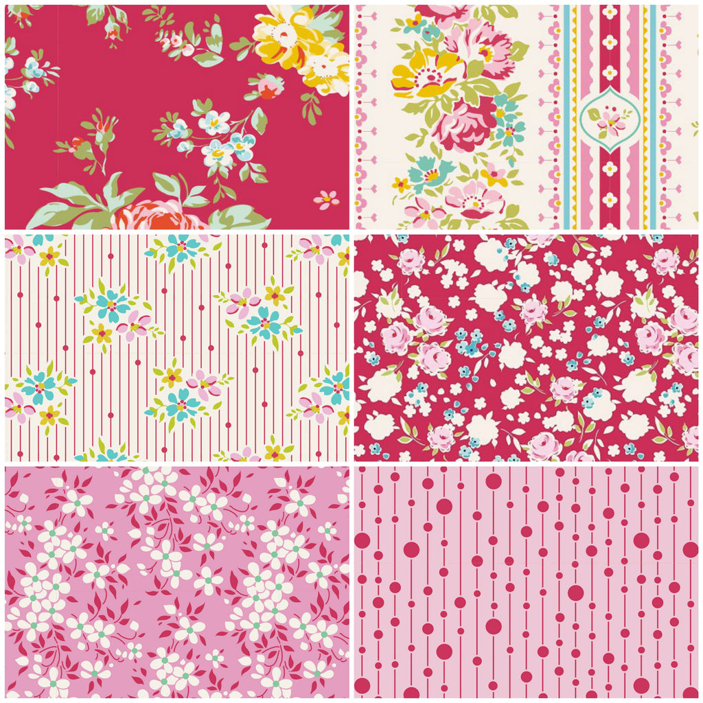 Tilda Apple Butter - Fat Quarter Pack - Red (6)