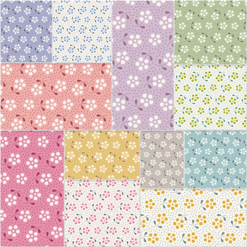 Tilda Meadow Basics - Fat Quarter Pack (12)