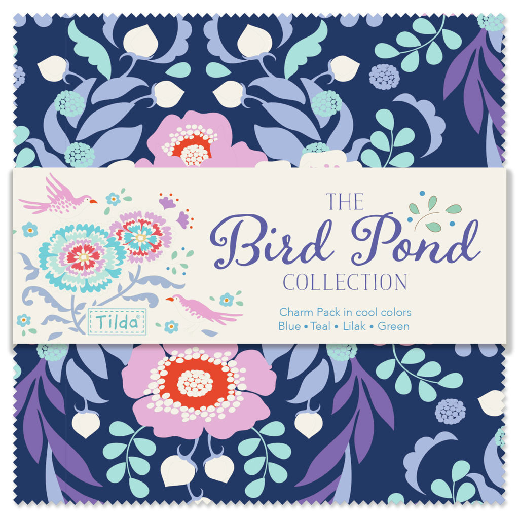 Tilda Bird Pond - Cool Colours - Charm Pack (40)