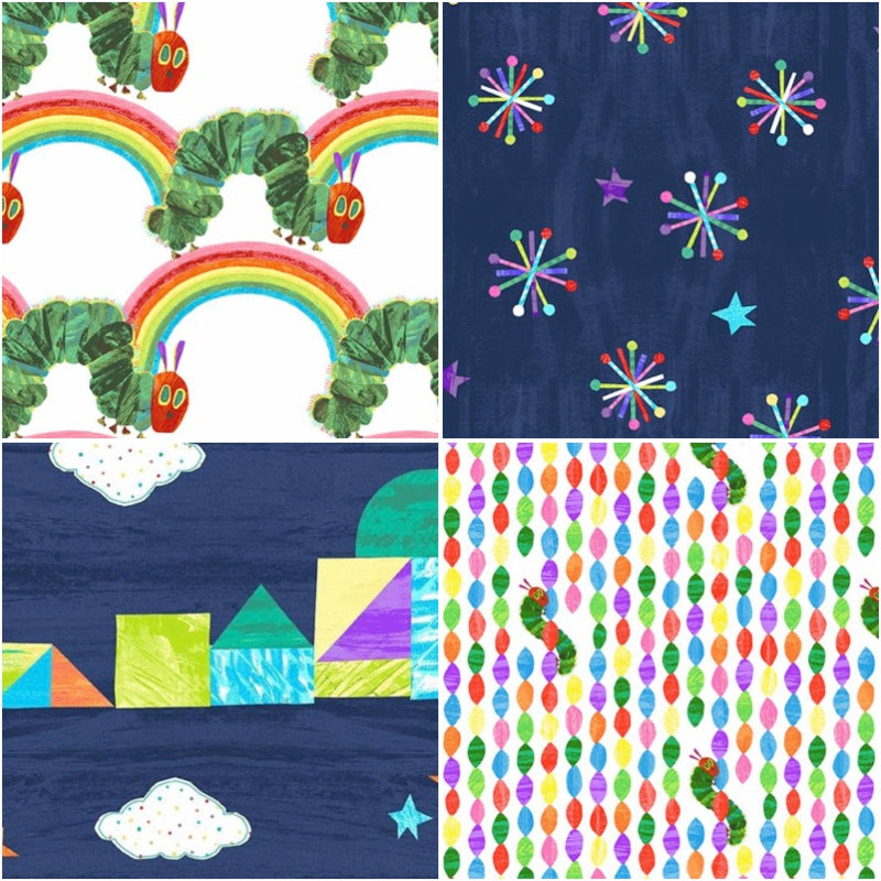 The Very Hungry Caterpillar - Fat Quarter Pack - Bright (4)
