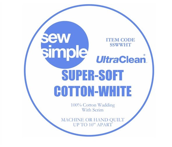 Wadding - Super Soft 100% Bleached White Cotton