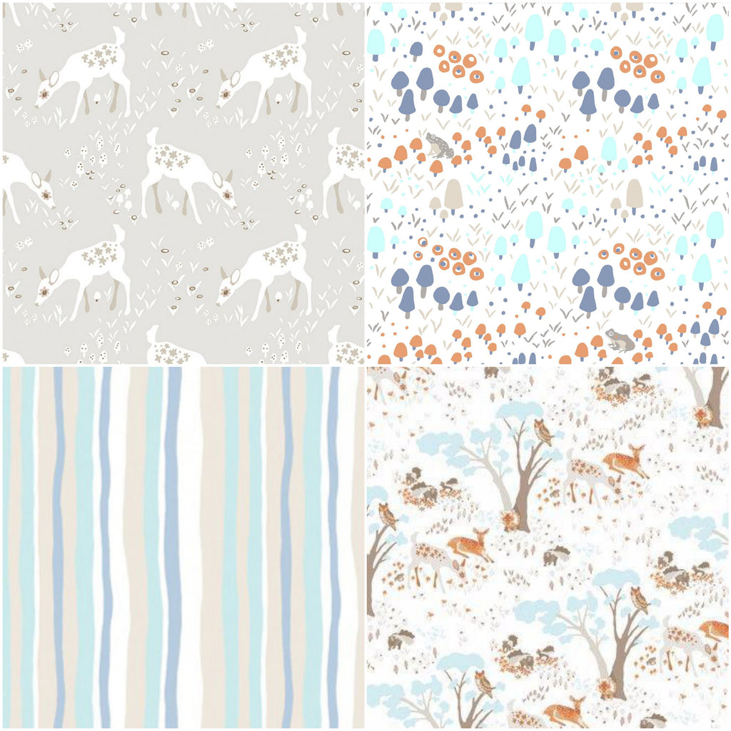Woodland Gathering - Taupe - Fat Quarter Pack (4)
