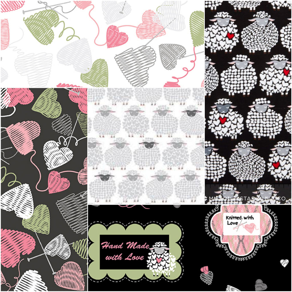 Wool Ewe Be Mine - Fat Quarter Pack - (5)