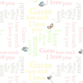 *NEW* Guess How Much I Love You - Text - Pink