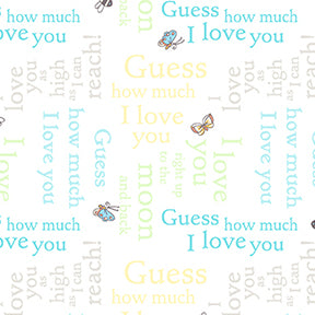 Guess How Much I Love You - Fat Quarter Pack - Blue (9)
