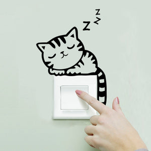 Cute Cats Wall Switch Stickers & Decals