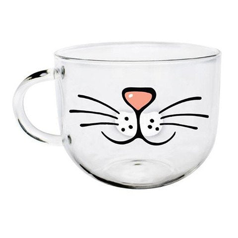 High-Quality Cat Whiskers Glass Mug