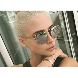 Cat Eye Sunglasses Alloy Frame UV Protection
