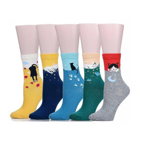 Pack of 5 Pairs Multi-color Socks