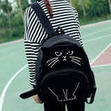 Cat Printed Backpack