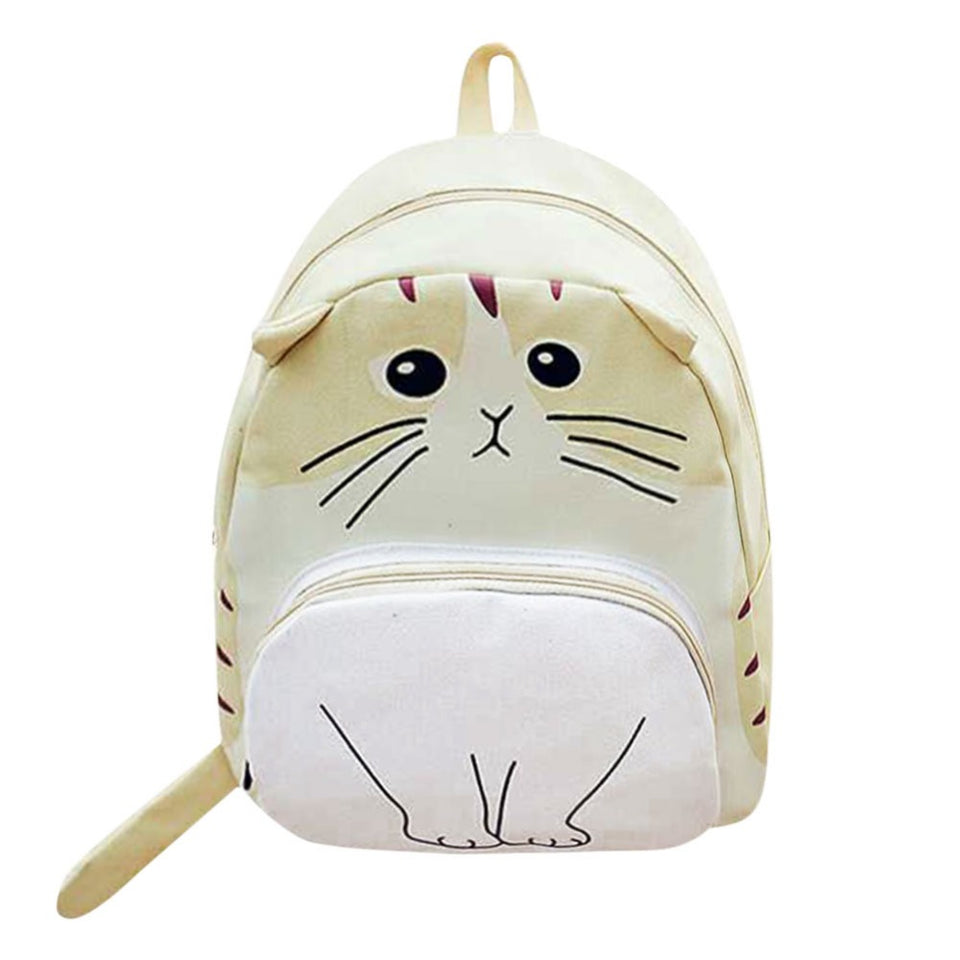 Cute Cat Printed Backpacks