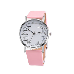 Trendy Cat Emoticons Quartz Wrist Watch
