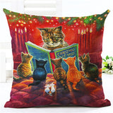 Vintage Cat Pillow Covers