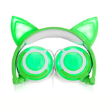 LED Cat Ear Headphones with Rechargeable Builtin Battery