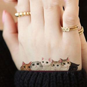 Temporary Cat Tattoo Sets