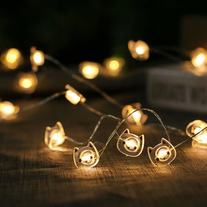 Cute Kitty Shaped LED Fairy Lights