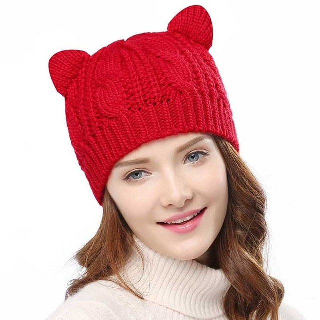 High Quality Cat Ears Knitted Beanies